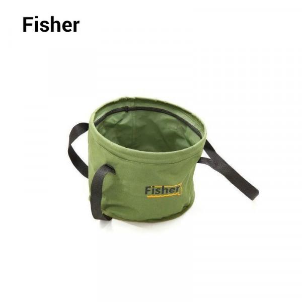 На фото Ведро для замеса прикормки Fisher K-008/1