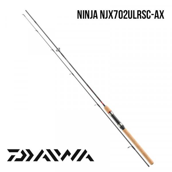 На фото Удилище Daiwa Ninja NJX702ULRSC-AX 2.1m 3-15gr