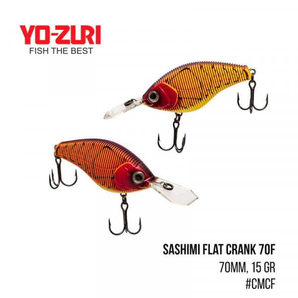 На фото Воблер Yo-Zuri Sashimi Flat Crank 70F (70mm, 15 gr, )