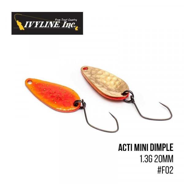 На фото Блесна Ivyline Acti Mini Dimple 1.3g 20mm