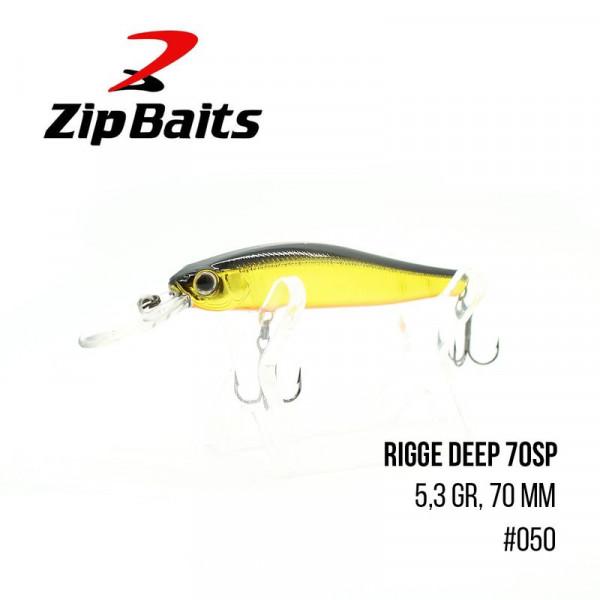 На фото Воблер Zip Baits Rigge Deep 70SP  (5,3гр, 70 мм, 1,5-2m)