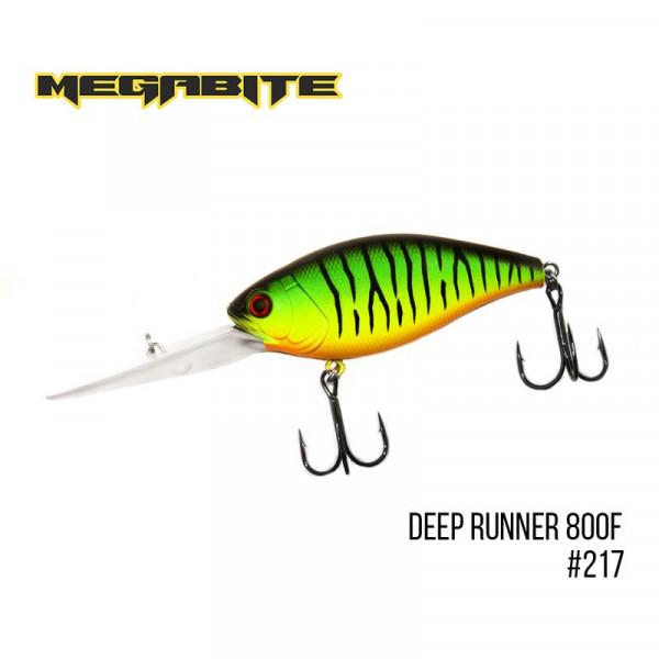 На фото Воблер Megabite  Deep Runner 800 F (80 mm, 38,7 g, 8 м)