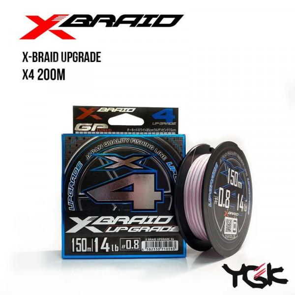 На фото Шнур плетеный YGK X-Braid Upgrade X4 200m