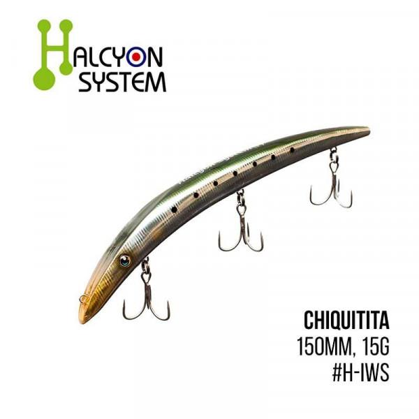 На фото Воблер Halcyon System Chiquitita (150mm, 15g)