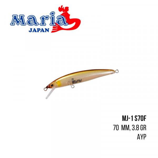 На фото Воблер Maria MJ-1 S70F (70mm 3,8g)