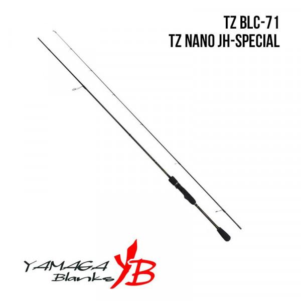 На фото Удилище Yamaga Blanks Blue Current TZ BLC-71/Tz Nano JH-Special