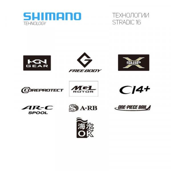 На фото Катушка Shimano 16 Stradic CI4+ C2000S