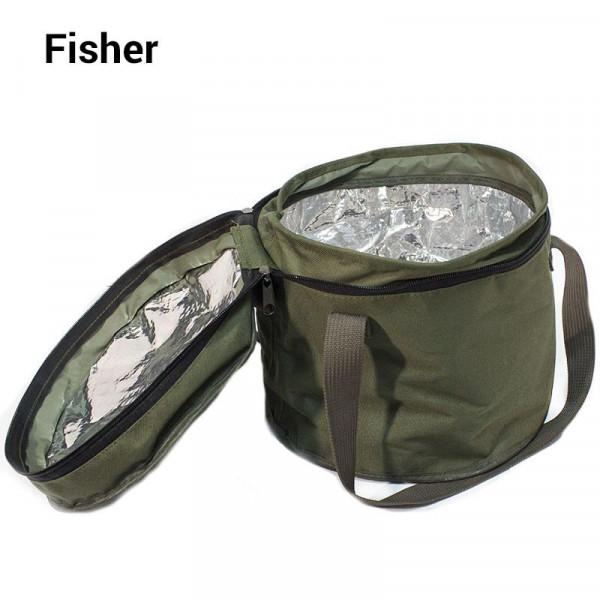 На фото Термоведро для замеса прикормки Fisher K-008