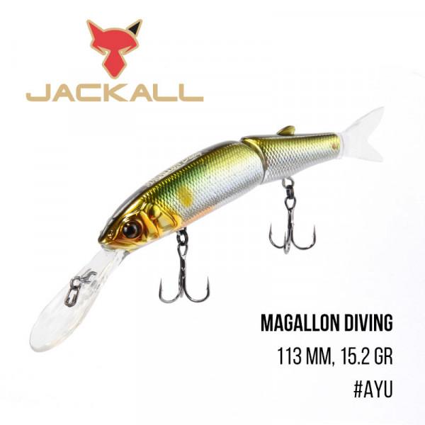 На фото Воблер Jackall Magallon Diving (113 mm, 15.2 gr)