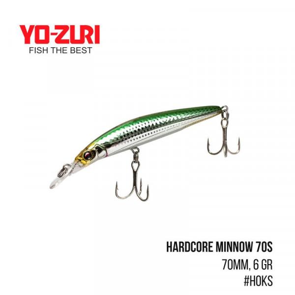 На фото Воблер Yo-Zuri Hardcore Minnow 70S (70mm, 6 gr,)