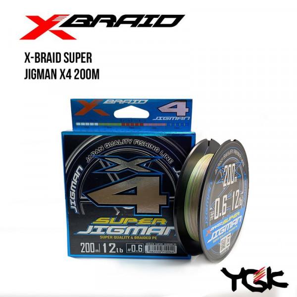 На фото Шнур плетеный YGK X-Braid Super Jigman X4 200m